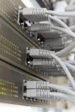 связывает серого сервера шкафа заплаты панели стоковое изображение