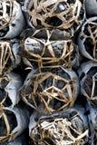 связывает уголь штабелированный вверх стоковая фотография rf