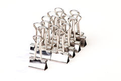 связыватель закрепляет серебр Стоковые Фото