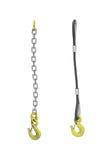 Связывать груза: кабель и цепь с крюком крана Стоковые Изображения RF