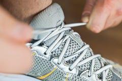 связывать спорта ботинка Стоковое Изображение
