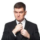 Связь бизнесмена corrcting Стоковое фото RF