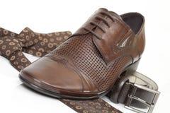 связь ботинка пояса стоковая фотография
