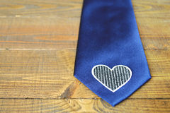 Связь Дня отца: Голубая silk связь Стоковые Фотографии RF