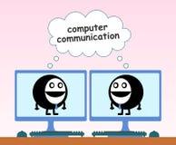 Связь компьютера иллюстрация вектора