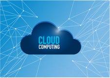 связь сетевого графика вычислительной технологии облака Стоковое фото RF