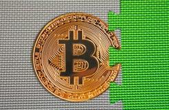 Связь blockchain cryptocurrency Bitcoin стоковое изображение rf