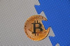 Связь blockchain cryptocurrency Bitcoin стоковое изображение