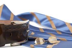 связь cufflinks пояса Стоковые Фото