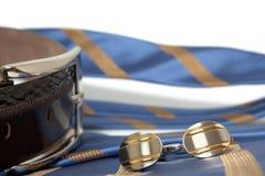 связь cufflinks пояса Стоковая Фотография