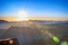 Святая гора Синай Стоковое Изображение