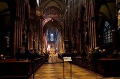 Святая масса в kathedral Фрайбурга Германии Стоковые Фото