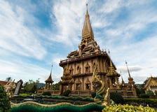 Святая пагода в виске chalong стоковое фото rf