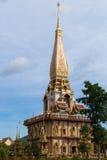 Святая пагода на виске chalong, Пхукете, Таиланде Стоковые Фотографии RF