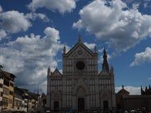 Святая перекрестная базилика, Флоренция стоковая фотография rf