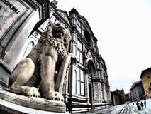 Святая перекрестная базилика, Флоренция стоковое фото