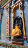 Святая скульптура на красочном виске Mahamariamman на дороге Бангкоке Silom, известно вызванном как Wat Khaek, висок devi Умы Стоковые Фото