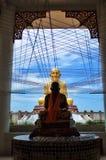 Святая тайская скульптура монаха Стоковая Фотография