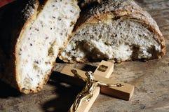святейшее хлеба перекрестное Стоковое Изображение