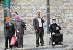 святейшие люди Израиля Иерусалима еврейские большая часть один люд устанавливают места священнейшие к голося стене Старый городок Стоковая Фотография RF