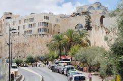 святейшие люди Израиля Иерусалима еврейские большая часть один люд устанавливают места священнейшие к голося стене Архитектура и  Стоковые Изображения