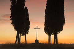 святейший восход солнца Тоскана Стоковое Изображение RF