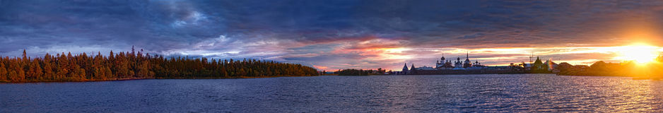 святейший заход солнца озера Стоковые Изображения RF