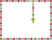 святейший rosary Рамка с розарием Стоковое Фото