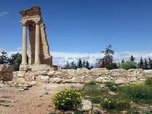 Святилище Аполлона Hylates в Kourion стоковая фотография