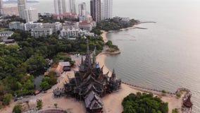 Святилище правды в Паттайя, Таиланде акции видеоматериалы