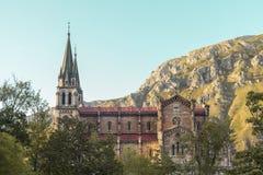 Святилище Covadonga, Астурии, Picos de Европы, Испании Стоковые Изображения