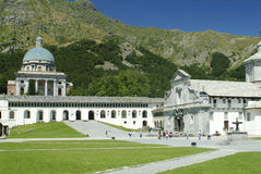 святилище oropa biella Италии Стоковые Фото