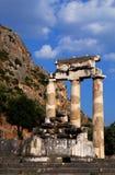 святилище pronaia Афины delphi Греции Стоковое Изображение RF