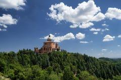 Святилище San Luca на болонья Италии Стоковое фото RF