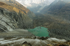 Святилище базового лагеря Annapurna, Непал Стоковое Изображение