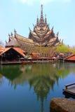 Святилище правды Таиланда Стоковые Изображения
