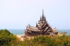Святилище правды Таиланда Стоковая Фотография