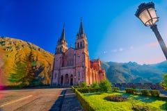 святилище covadonga astrological стоковая фотография