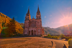 святилище covadonga astrological стоковое изображение rf