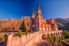 святилище covadonga astrological стоковые фото