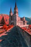 святилище covadonga astrological стоковые изображения