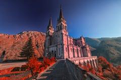святилище covadonga astrological стоковые фотографии rf