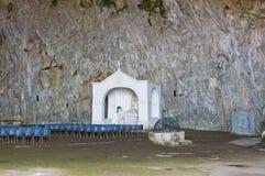 Святилище Grotta della St. Марии. Прая конематка. Калабрия. Италия. Стоковые Фотографии RF