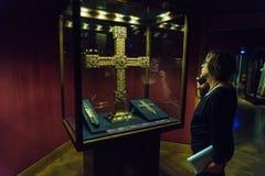 Святое Ланс, частица истинного креста и имперского креста, v стоковая фотография rf