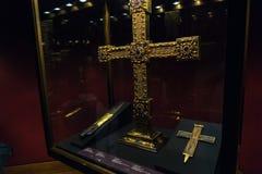 Святое Ланс, частица истинного креста и имперского креста, v стоковое фото