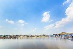 Святое озеро в Pushkar, Индии стоковое фото