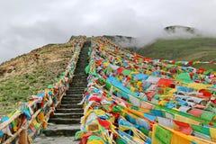 Святое озеро на Тибете Стоковое Фото