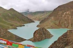 Святое озеро на Тибете Стоковая Фотография RF