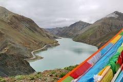 Святое озеро на Тибете Стоковые Фотографии RF