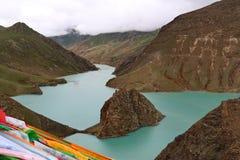 Святое озеро на Тибете Стоковая Фотография